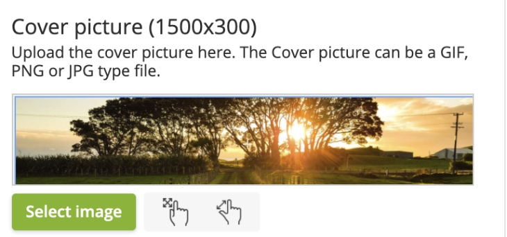 Easily crop and adjust your cover and profile images