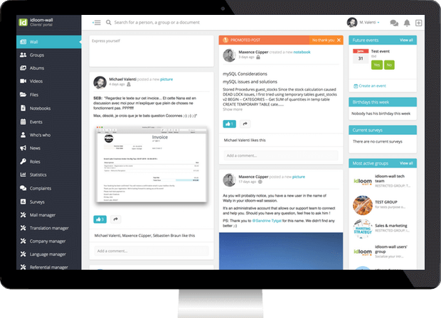 Socialize your intranet or extranet with Wall